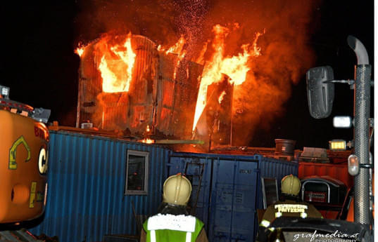 Containerbrand-Fritzens